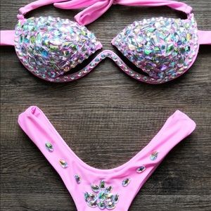 Other - 50% off Today! ⭐️ Bling Pink Underwire GLAM Bikini